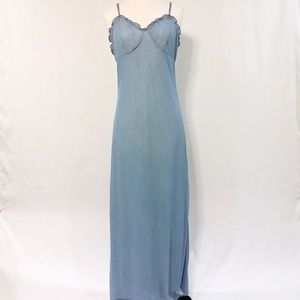 Vintage Light Blue Lined Nightgown